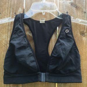 Lululemon Black front clip racerback bra